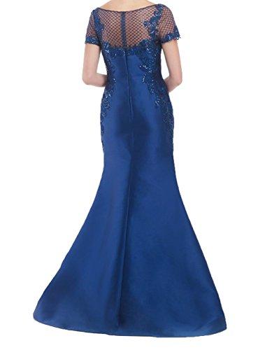 Abendkleider Neu Kleider Damen Jugendweihe Meerjungfrau Kurzarm Partykleider Langes Charmant Royal Blau Abschlussballkleider fqI1z