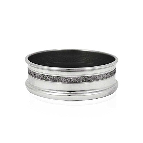 English Pewter Company [WG302] Pewter Wine Bottle Coaster Pewter Wine Coaster