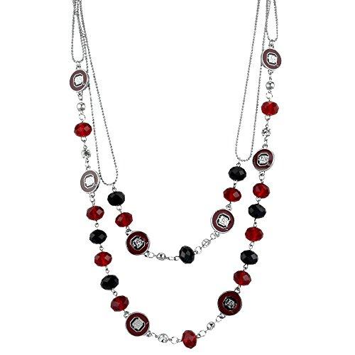 [24 Inch South Carolina Gamecocks Multi-Strand Bead Necklace] (Usc Fan Costume)