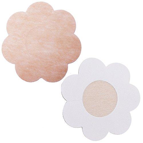 tessuto Flower di non adesivi Shape e monouso fiore mostrano forma non seno di in a copri capezzoli il adesivo 10 nbsp;paia tessuto Rw5w0