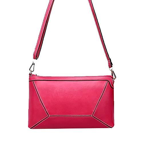 Fashion à Véritable Poignée Supérieure Sac Zipper Cuir KYOKIM Mignon Main Rosered En xqw1BgTgnC