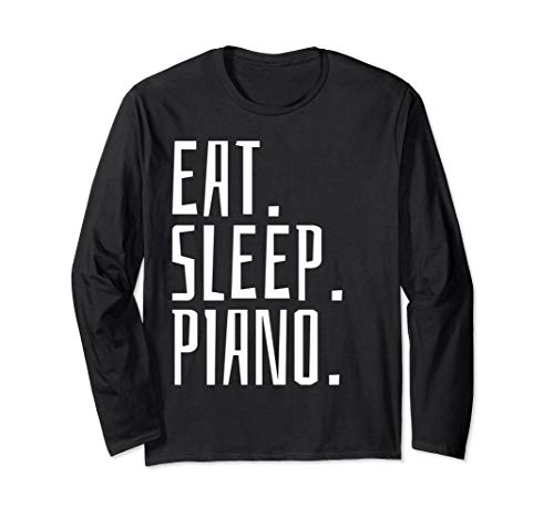 Piano Pianist Keyboard Musical Music  Long Sleeve T-Shirt (Live And Let Die Piano Sheet Music)