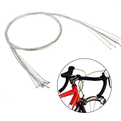 Thur amo 10Pcs Gear Shifter Cable, 2M Long Bicycle Replaceable Wire Inner Derailleur Wire Stainless Steel by Thur amo (Image #5)