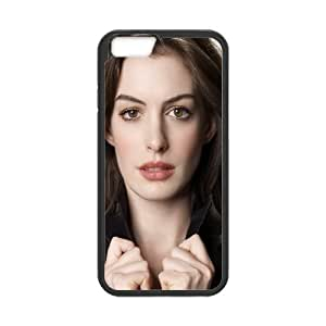 IPhone 6 Case, Antislip Beautiful Anne Hathaway Case for IPhone 6 {Black}
