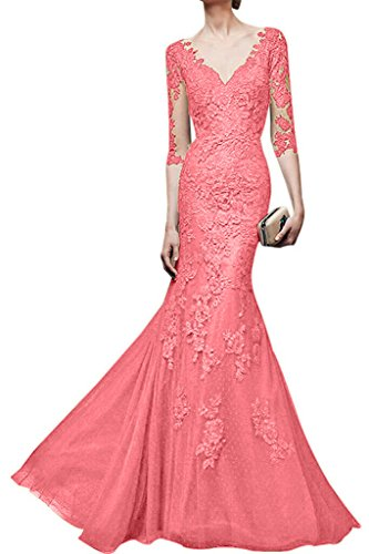 Meerjungfrau Abendkleider Spitze La Wassermelon Ballkleider Braut Marie Figurbetont Neuheit Abschlussballkleider Gelb 6qtRwFaxB