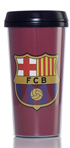 Soccer Coffee Mug (FC Barcelona Travel Mug- Holds 16 Ounces -Hot and Cold Beverages - 100% Official League Product - Everyone will enjoy this travel mug - Perfect for Soccer and Football League Fans)