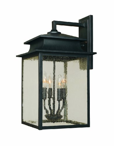 - World Imports 9107-42 Sutton Collection 4-Light Outdoor Wall Sconce, Rust