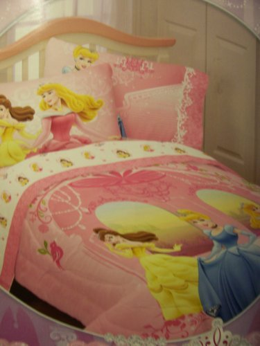 Jay Franco & Sons Disney Princess Cotton Rich Comforter ~ Welcome to My Castle
