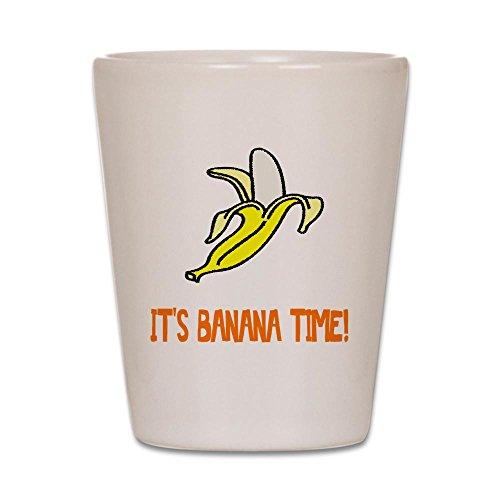 CafePress - Weird Banana Time - Shot Glass, Unique and Funny Shot - Banana Glasses
