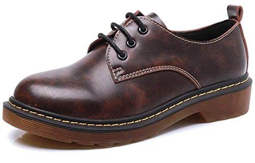 Para Zapatos Inglaterra Planos Gruesos Beige De Individuales Zapatos Plataforma Zapatos Con Mujeres Sueltos Charol PpzZW4xnwq