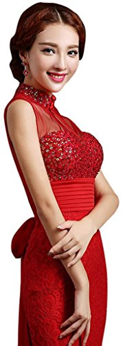 Drasawee Rot Cocktail Kleid Rot Damen FUUXwqY