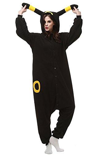 (Xiqupjs Umbreon Cosplay Costumes Animal Pajamas One Piece Halloween Sleepwear Girls(S, Yellow)