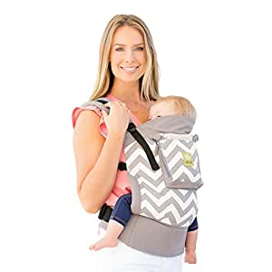 4 in 1 ESSENTIALS Baby Carrier by LILLEbaby – Grey Chevron