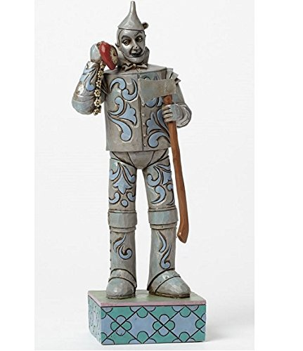 Jim Shore Wizard of Oz If I only had a Heart Tin Man with Heart Clock Figurine (Tin Oz Wizard Of Man Heart)