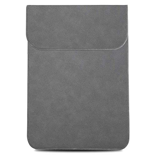 TECOOL 13 inch Laptop Sleeve Case,Faux Suede Leather Protective Cover for MacBook Air 13 (2010-2017 Version)/ MacBook Pro 13 Retina(2012-2015 Version),Grey