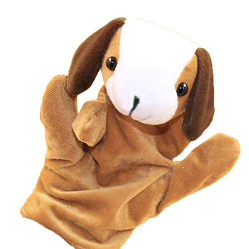 (Digood Zoo Friends Finger Puppets, Cute Cartoon Dog Doll, Soft Plush Material, Story Telling Toys (Brown))