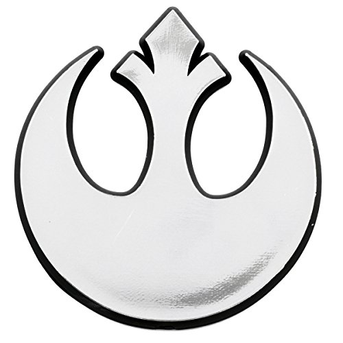 (Rebel Alliance Logo Chrome Auto Emblem - 3