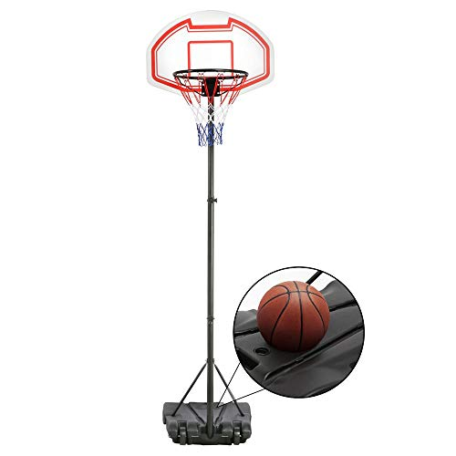 Yaheetech Portable Basketball Hoop System Height Adjustable Basketball Stand for Kids Indoor/Outdoor W/Wheels, 29 Inch Backboard (Height Of A Basketball Hoop High School)