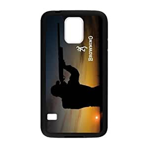 Qezi Fashion Men Shooting Browning Cutter Logo Samsung Galaxy S5 Cell Phone Cases Cover(Laster Technology)