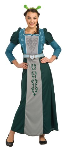 [Shrek Deluxe Fiona Costume, Green, Standard] (Fiona Adult Costumes)
