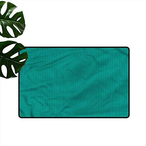 HOMEDD Dog Doormat,Teal Knitting Sewing Hobby,with No-Slip Backing,24