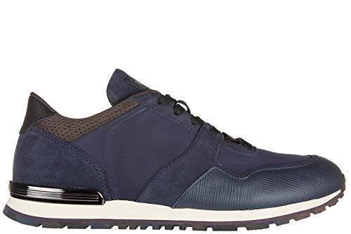 Tod's chaussures baskets sneakers homme en cuir all spoiler cafu caoutchouc blu