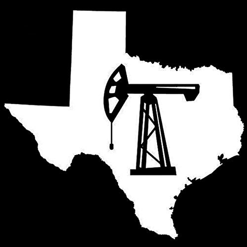 DECAL-STYLE - 13.3cmx14cm Texas State Oilfield Oil Pump Jack Vinyl Car Styling Stickers Black/Silver S3-4969
