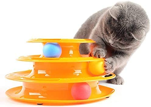 Damastoreitalia® Juego Torre Gatos Interactivo Circular con ...