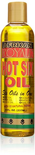 African Royale Hot Six Hair Oil, 8 Ounce