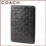 Coach Signature Embossed Leather Ereader Tablet Sleeve 63316 Black