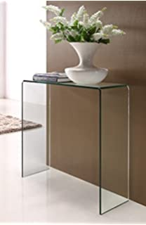 Glass Console Table Extra Small Amazoncouk Kitchen Home