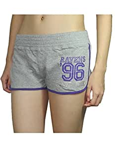 Pink Victoria's Secret Womens BALTIMORE RAVENS #96 Sport Shorts S Grey