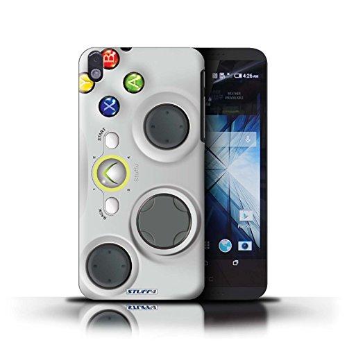 Kobalt® Imprimé Etui / Coque pour HTC Desire 816 / Blanc Xbox 360 conception / Série Console (jeux vidéo)