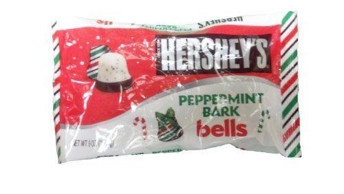 Hersheys Peppermint Bark Bells 9 Ounce