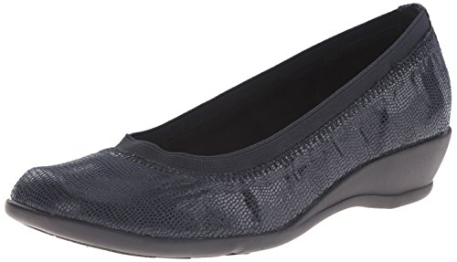 Soft Style by Hush Puppies Rogan Étroit Toile Chaussure Plate Navy Lizard KwyOt