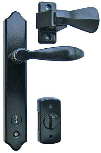 Ideal Security SK1215BL Deluxe Storm Door Handle Set with Deadbolt, Black