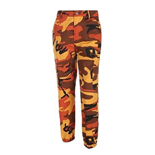 Orange Camouflage Jeans Harem Cargo Women Camo Fashion Outdoor Casual Pants Trousers Sports Boyfriend UqZRwxO7