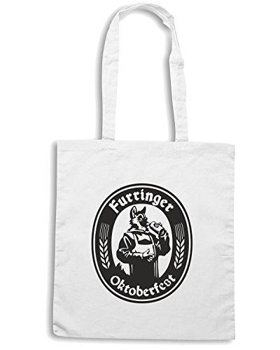 T-Shirtshock - Bolsa para la compra BEER0059 Furringer Oktoberfest Blanco