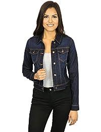 Women's Classic Casual Vintage Denim Jean Jacket/Vest Regular & Plus Size