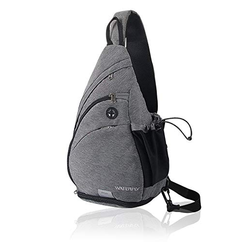 Waterfly Sling Backpack Sling Bag Small Crossbody Daypack Casual Backpack Chest Bag Rucksack for Men & Women Outdoor Cycling Hiking Travel
