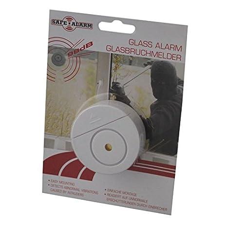 98db Detector de rotura de vidrio ventanas Alarma Alarma Sensor Alarma de rotura Ventana Protección: Amazon.es: Electrónica