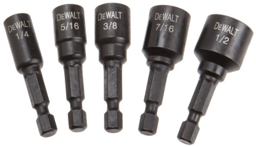 DEWALT DW2235IR 5-Piece IMPACT READY Magnetic Nutsetter Set - coolthings.us