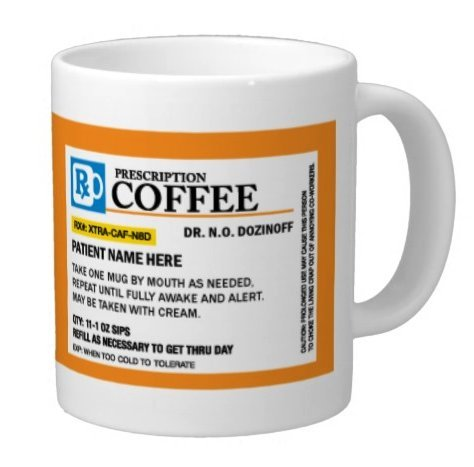 (Personalized Prescription Coffee Mug, Add A Custom Name - Great for Doctors, Nurses, Pharmacist, great Mothers Day, Fathers Day, Christmas or Birthday Gift (15oz))