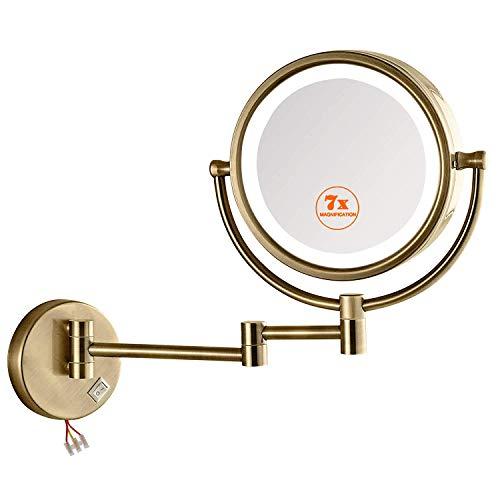 KWEE Makeup Mirror Wall Mounted Lighted, 360°Swivel 12