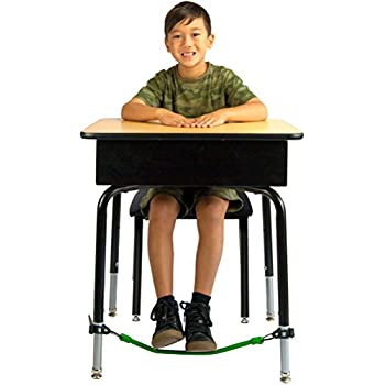 Kick Bands Bouncy Desk Fidget Band - Improves Focus For School Kids and Classroom Students - ADHD ADD SPD Autism Sensory Needs - Bounce & Stretch Foot Band by Solace
