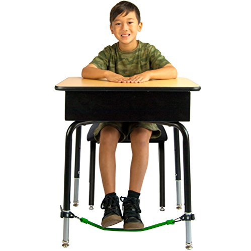 Kick Bands Bouncy Desk Fidget Bands for Kids::Alternative Flexible Seating Classroom Supplies for Elementary School Students::ADHD Foot Sensory Fidgets for Classroom Desks by Solace (2-Pack)