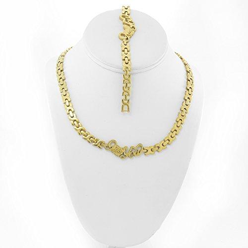 NECKLACE BRACELET XOXO STAINLESS DIAMOND product image