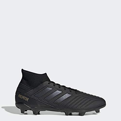 adidas Men's Predator 19.3 Firm Ground Soccer Shoe, Black/Black/Gold Metallic, 10.5 M US (Adidas Shoes Of Soccer)