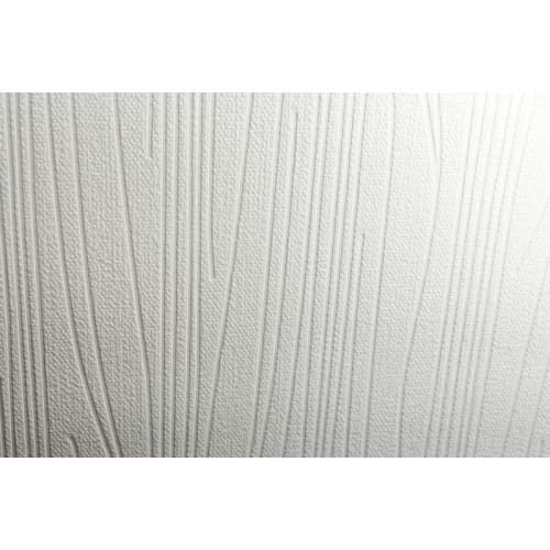 Graham & Brown Paintable Subway Stripes Wallpaper, White