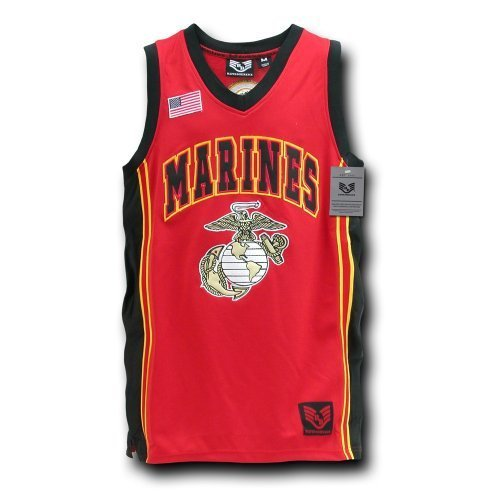 Rapiddominance Marines Basketball Jersey, ROT, Large by Rapid Dominanz